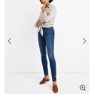 NEW MADEWELL CURVY HIGH RISE SKINNY JEANS 24